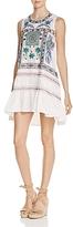 Freeway Embroidered Ruffle Trapeze Dress