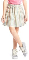 Shimmer stripe flippy skirt