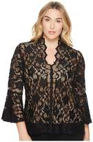 Karen Kane Plus Plus Size Lace Flare Sleeve Top
