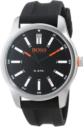 HUGO BOSS Mens Analogue Classic Quartz Watch with Silicone Strap 1550042