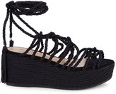 Schutz Murana Tie-Up Flatform Sandals