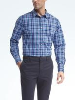 Banana Republic Camden-Fit Custom-Wash Plaid Shirt