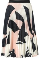 Oliver Bonas Structure Print Pleated Skirt