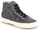 Superga THE ROW FOR Metallic Tweed High-Top Sneakers