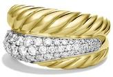 David Yurman Crossover Large Ring with Diamonds