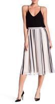 Anne Klein Bridle Striped Midi Skirt