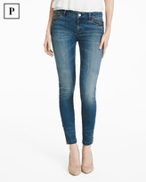 White House Black Market Petite Lace-Up Skimmer Jeans
