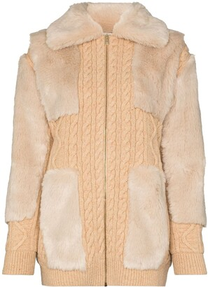 Stella McCartney Panelled Virgin Wool Cardigan