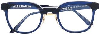 Kuboraum N14 clear frame glasses