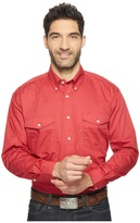 Roper 0856 Solid Poplin - Red Men's Clothing