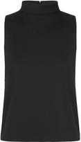 Oxford Phillipa Turtle Collar Top Black X
