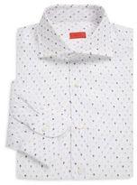 Isaia Regular-Fit Kite-Print Cotton Dress Shirt
