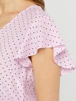 Monsoon Nessa Spot Print Blouse - Blush
