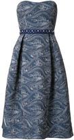 Mary Katrantzou flared strapless dress