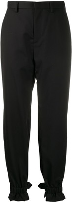 Comme des Garcons Buckle Tab Tapered Trousers