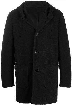 Daniele Alessandrini shearling single breasted coat