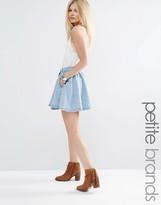 Vero Moda Petite Denim Skater Skirt