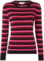 Michael Kors Multi striped cashmere mix sweater