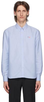 MAISON KITSUNÉ Blue Tricolor Fox Oxford Shirt