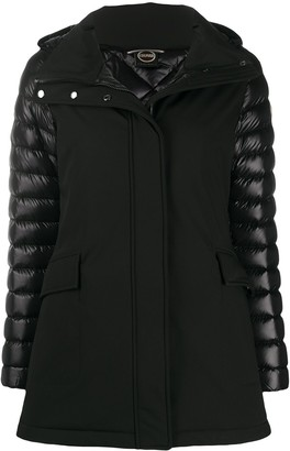 Colmar Quilted-Panel Hooded Jacket