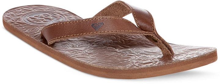 Roxy Maya Leather Flip Flops