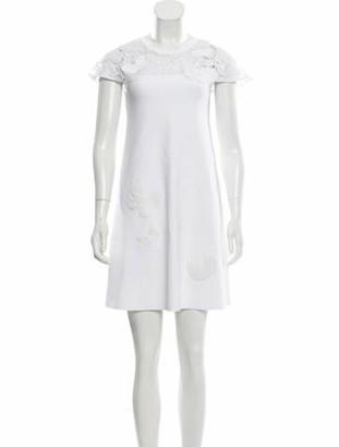 Valentino Embellished Mini Dress White