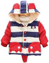 Happy Cherry Children Boys Hooded Outerwear Jackets Cute Elephant Coat 4T