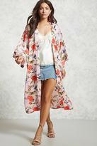 Forever 21 Floral Satin Kimono