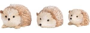 Transpac Trans Pac Foam White Christmas Winter Hedgehog - Set of 3