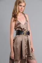 Imitation Smelted Snap Front Dress