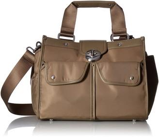 Baggallini Stanhope Satchel Bag with RFID Wristlet Organizational Pockets with Lightweight Nylon
