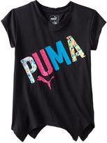 Puma Girls 7-16 Logo Sharkbite Hem Tee