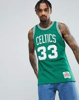 Mitchell & Ness Nba Celtics Larry Bird Swingman Vest In Green