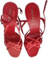 Prada Pink Cloth Sandals