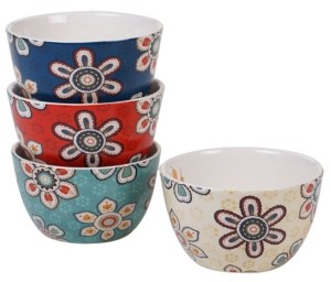 Certified International La Vida 4-Pc. Ice Cream Bowl