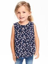 Old Navy Floral Sleeveless Crepe Top for Toddler Girls