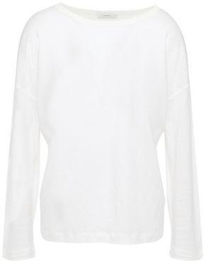 Vince Slub Tencel, Linen And Cotton-blend Jersey Top