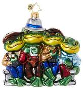 Christopher Radko Out To Lunch Frog Animal Christmas Ornament