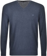 Michael Kors V Neck Jumper Blue