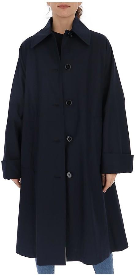 Navy Belted Trench Coat Women, Navy Trench Coat Ladies