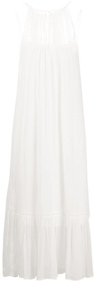 Mcq Swallow Sleeveless Sheer Dress