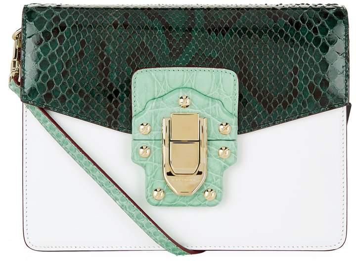 Dolce & Gabbana Crocodile Python Shoulder Bag