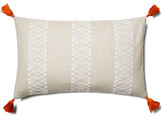 Embroidered Diamond Stripe 14x22 Pillow
