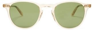 Garrett Leight Hampton 46 Round Transparent-acetate Sunglasses - Mens - Clear