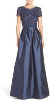 Adrianna Papell Women's Sequin Bodice Taffeta Ballgown