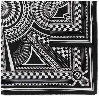 Balmain Geometric-Print Scarf