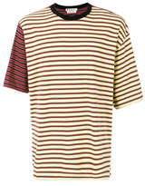 Marni Contrast Striped T-shirt - Brown - Size IT56