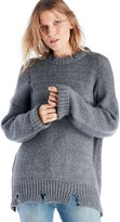 Sole Society Destroyed Detail Boxy Sweater