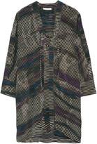 IRO Ariana lace-up striped silk mini dress