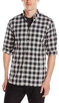 John Varvatos Men's Roll Up Sleeve Shirt Button Down Collar Single Pocket